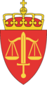 Coat of arms of the Norwegian Military Prosecution Authority.png