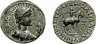 Vima Takto - Another bronze coin of Vima Takto.
