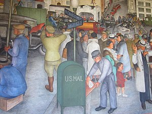 Public Works of Art Project - One of the Coit Tower murals, 1934