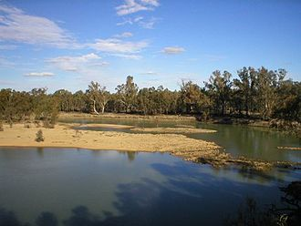 Colignan, Victoria - The Murray River flows through Colignan. This island, commonly known as Watts's or Colignan Island, is fully submerged when the river is high