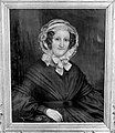 Collectie NMvWereldculturen, TM-10018675, Glasnegatief van 'Portret van Aleida van Vlierden, echtgenote van Mr. H.W. Daendels', door Raden Saleh, fotograaf onbekend, 1942.jpg