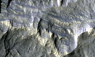 Memnonia quadrangle - Image: Columbus Crater Layers