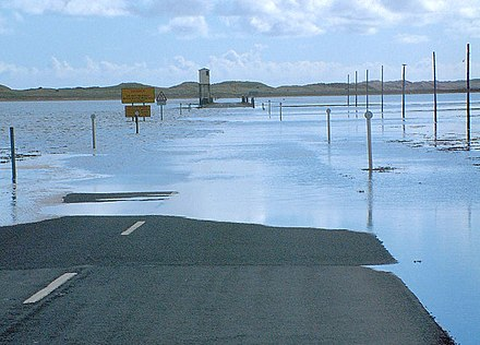 The causeway flooding with a refuge box in the distance Come Back Later^ - geograph.org.uk - 16072.jpg