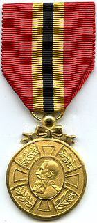 Commemorative Medal of the Reign of King Leopold II Belgian civilian and later military and police forces medal