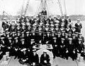 Commodore Coke and HMCS Stadacona crew at Sydney NS WWI.jpg