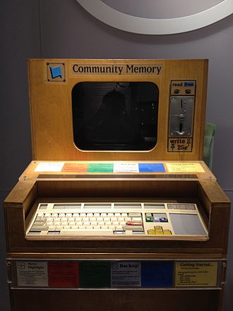 Community Memory - Community Memory terminal at the Computer History Museum