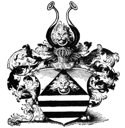 Fig. 670.—Arms of Dr. Heinrich Rubische.