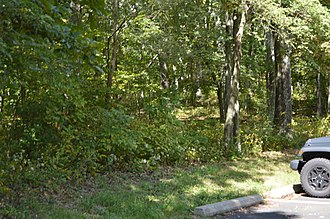 National Register of Historic Places listings in Warren County, Virginia - Image: Compton Gap Site by parking area