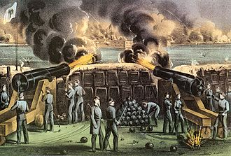 Timeline of United States history - Image: Confederate Batteries 2
