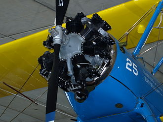 Continental R-670 - An R-670 fitted to a Boeing Stearman at the Imperial War Museum Duxford