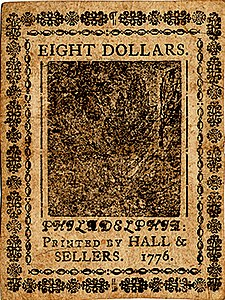 Continental Currency $8 banknote reverse (November 2, 1776).jpg