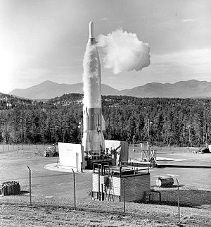 556th Strategic Missile Squadron - 556th SMS Convair SM-65F Atlas No. 100 at Site 6 Au Sable Forks NY