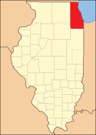 Cook County, Illinois - Image: Cook County Illinois 1831