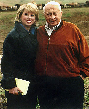 Rita Cosby - Rita Cosby with Ariel Sharon.