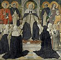 Cosimo Rosselli (1439-1507) - Saint Catherine of Siena as Spiritual Mother of the Second and Third Orders of Saint Dominic - NG 1030 - National Galleries of Scotland.jpg