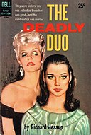 Cover of The Deadly Duo by Richard Jessup - Illustration by Freeman Elliott - Dell 1959.jpg