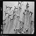 Crewmen aboard USS Yorktown (CV-10) dash to stations as general quarters sound. - NARA - 520942.jpg