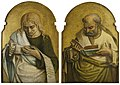 Crivelli (and studio) - Two Evangelists (Saint John the Evangelist and the Author of Another Gospel) (from a predella), c.1471–1473.jpg