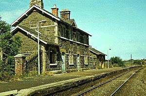 Cromore railway station - The station on 13 August 1983