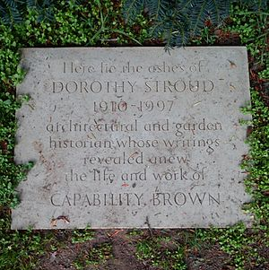 Dorothy Stroud - A memorial at Croome Park