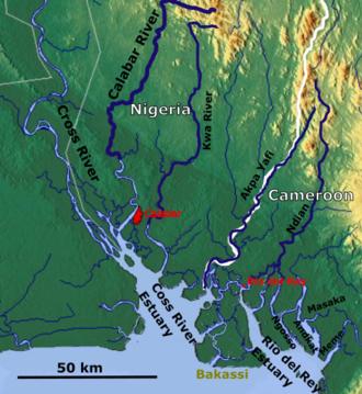 Rio del Rey - Rio Del Rey estuary (right)