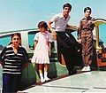 Crown Prince Reza, Princess Farahnaz and Prince Alireza and Princess Leila next to Bonazza Airplane.jpg