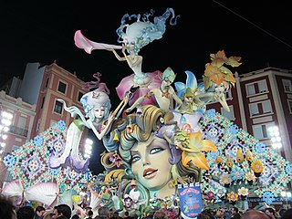 Falles Traditional celebration in Valencia, Spain