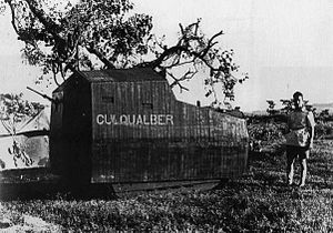 Battle of Culqualber - Makeshift armoured tractor used by Italian forces at Culqualber, nicknamed as hedgehog