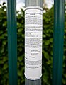 Cylindrical traffic order notice, Hambledon Road - geograph.org.uk - 1763875.jpg