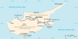 Cipro - Mappa