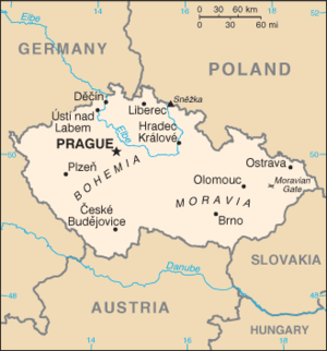Outline of the Czech Republic - An enlargeable basic map of the Czech Republic