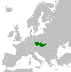 Location of Čekoslovakija