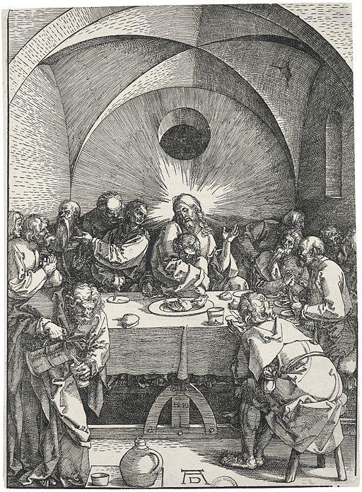 """Dürer - Das Abendmahl Albrecht Dürer, """"Das Abendmahl"""" [Public domain], via Wikimedia Commons"""