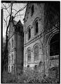 DETAIL, WEST SIDE FROM SOUTHWEST - Wyndclyffe, Mill Road, Rhinebeck, Dutchess County, NY HABS NY,14-RHINB.V,2-11.tif