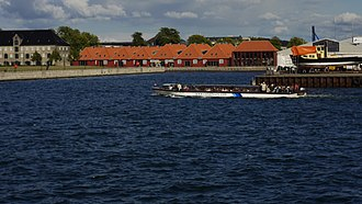 Gunboat Sheds, Copenhagen - The Gunboat Sheds seen from the water