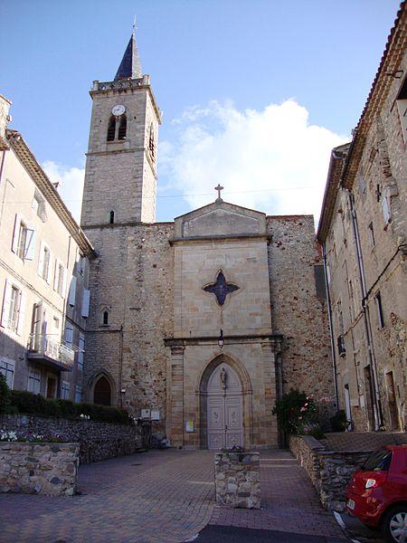 Hérépian (Hérault, Fr) église Saint-Martia, façade.