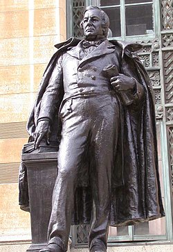 Statue of Fillmore outside City Hall in downtown Buffalo, New York.