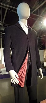 the 12th doctors costume on display at the doctor who experience