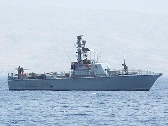 Battle of Marsa Talamat - An Israeli Dabur class patrol boat in the Gulf of Eilat