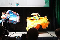 Dancing at the Wikimania 2015 Opening Ceremony IMG 7621.JPG