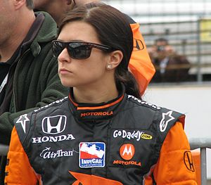 Danica Patrick at the Indianapolis Motor Speed...