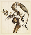 Dante Gabriel Rossetti - Female - Study of a Girl eating Cherries - Google Art Project.jpg