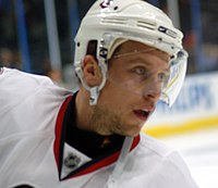 Forward Dany Heatley netted two consecutive 50 goal seasons in 2005–06 and the following year.