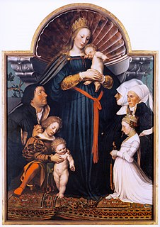 <i>Darmstadt Madonna</i> painting by Hans Holbein the Younger