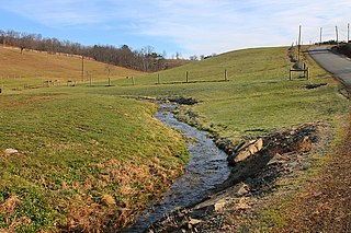 Davis Hollow river in the United States of America