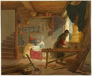 Tethart Philipp Christian Haag - Image: De Heilige Familie in Jozefs werkplaats; Tethart Philipp Christian Haag