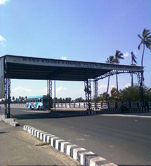 Amaravati River - Image: Defunct Amaravathi Toll Plaza Karur