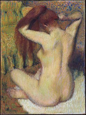Sihuanaba - Image: Degas Frau sich die Haare kämmend