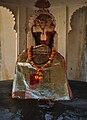 Deity of Bhairav Mandir inside Badal Mahal, Kumbhalgarh Fort.jpg
