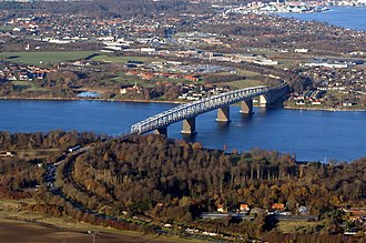 Middelfart - The Old Little Belt Bridge just south of Middelfart
